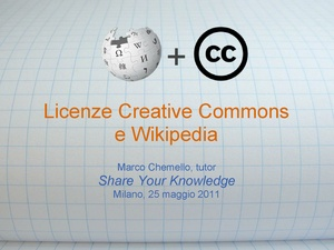 Licenze Creative Commons e Wikipedia