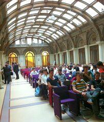 Cerimonia di premiazione di «Adotta una parola a scuola», 7 giugno 2012, Auditorium Enzo Biagi, Sala Borsa, Bologna